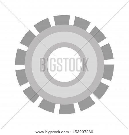 metal gear wheel over white background. vector illustration