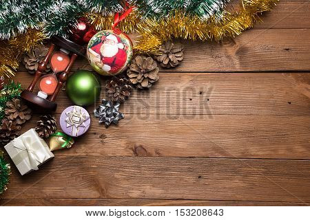 Beautiful Christmas background. The view from the top.