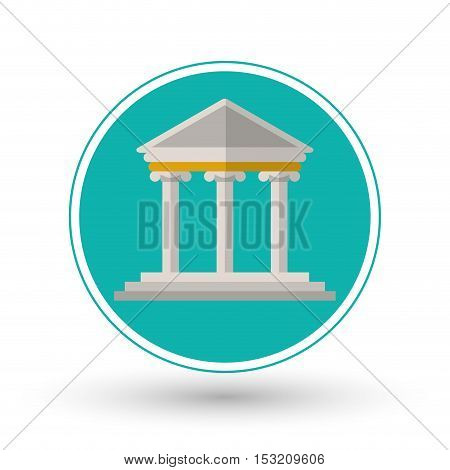 Building icon. Law justice legal and judgment theme. Colorful design. Vector illustration