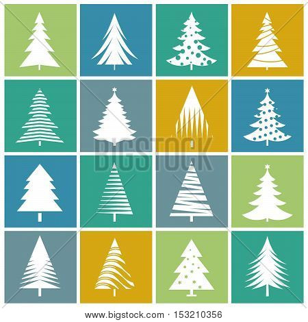 Christmas Tree. Vector Illustration, Texture and graphic elements.