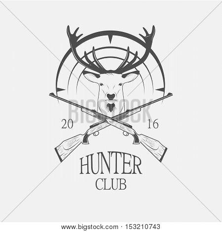 deer hunting with shotguns icon - vector illustration