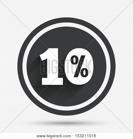 10 percent discount sign icon. Sale symbol. Special offer label. Circle flat button with shadow and border. Vector
