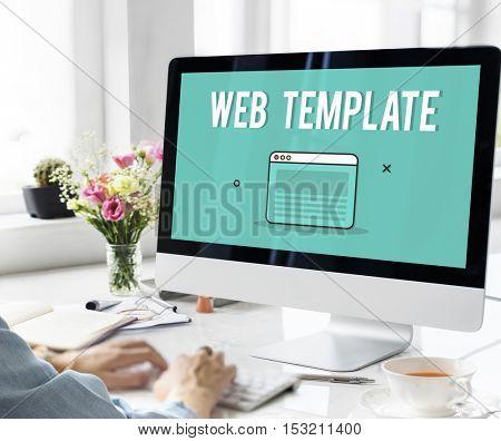 Web Design Template Graphic Concept