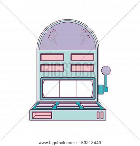 casino machine icon over white background. vector illustration