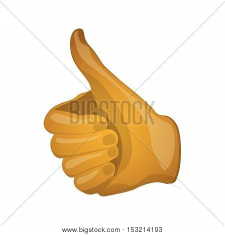 human hand with finger up. good gesture expression over white background. vector illustration