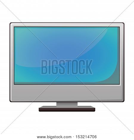 monitor computer device icon over white background. vector illustration