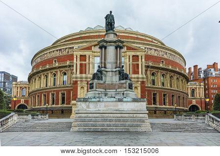 Panoramic view of Royal Albert Hall, London, Great Britain