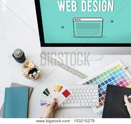 Web Design Template Graphic Concept