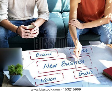 Business Entrepreneur Strategy Development Ideas Concept