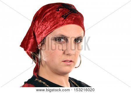 beautiful pirate woman