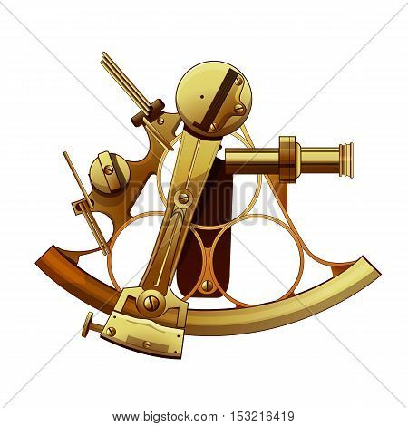 Isolated Astrolabe illustration on a white background