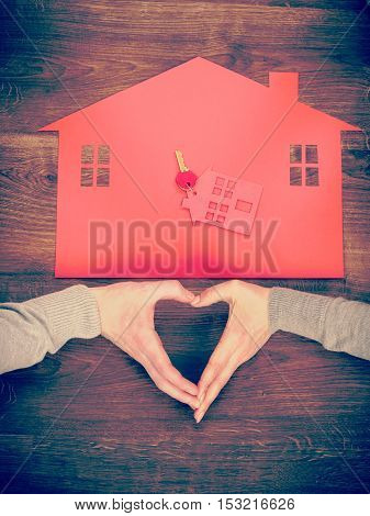 Heart And House Symbol