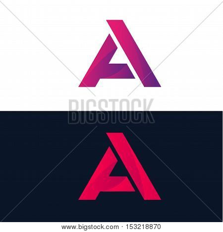 Abstract A letter logo sign symbol element icon vector design