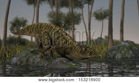 3d illustration of the batrachotomus