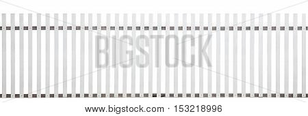 old wooden fence isolated on white background