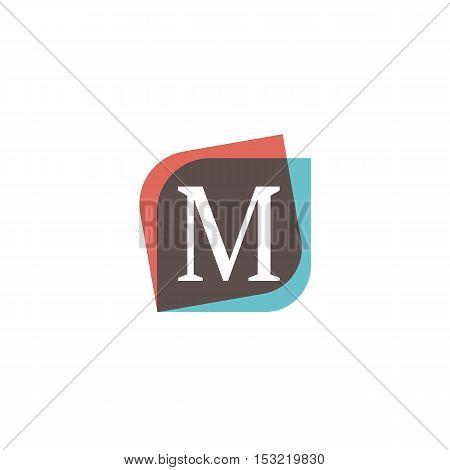 M letter sign retro company symbol vector design