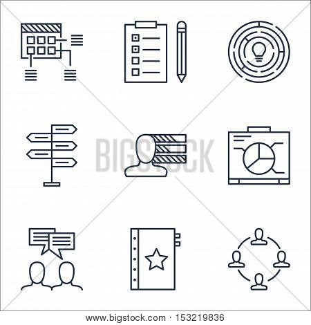 Set Of Project Management Icons On Warranty, Opportunity And Schedule Topics. Editable Vector Illust