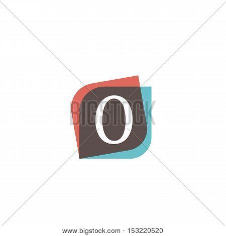 O letter sign retro company symbol vector design