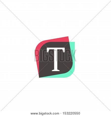 T letter sign retro company symbol vector design