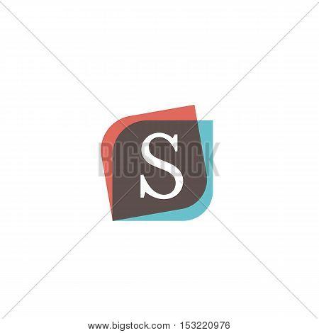 S letter retro sign company symbol vector design