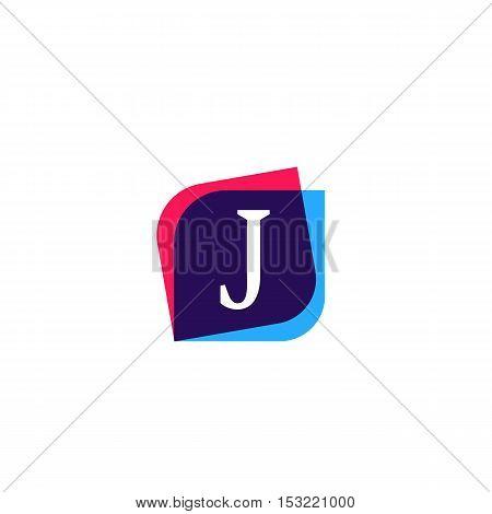 J letter sign company symbol vector design