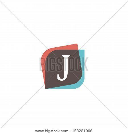 J letter retro sign company symbol vector design