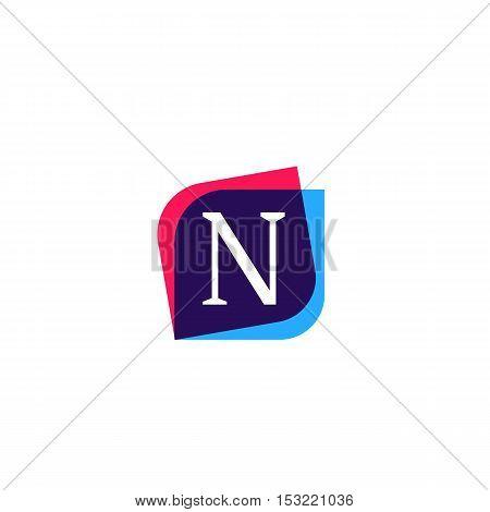 N letter sign company symbol vector design