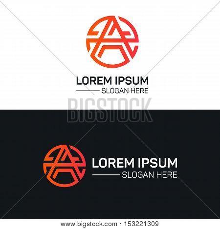 A letter logo company sign vector design