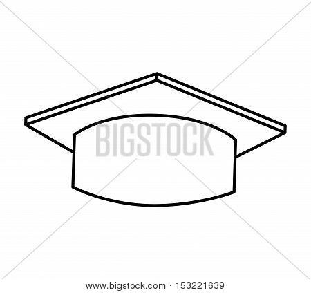 hat graduation isolated icon vector illustration design