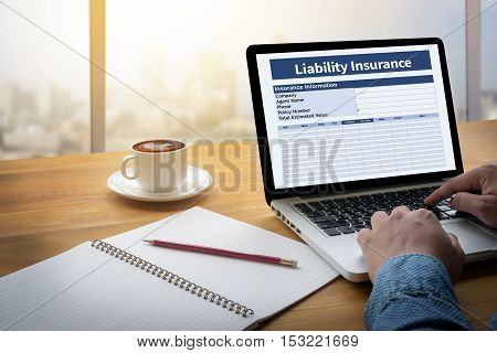 Form Document  Liability Insurance Money Risk