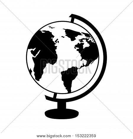 globe planet isolated icon vector illustration design