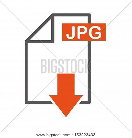 document file format with arrow download isolated icon vector illustration design