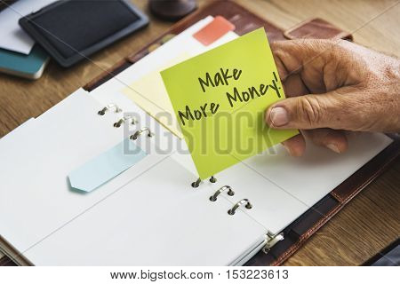 Make More Money Financial Earning Concept