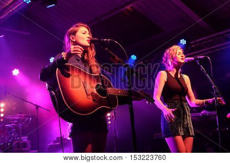 The Engine Rooms Southampton - October 21 2016:  British country duo Ward Thomas performing at the Engine Rooms