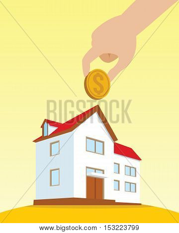 investment on property house vector illustration design