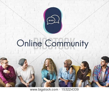Online Community Interacting Connect Concept