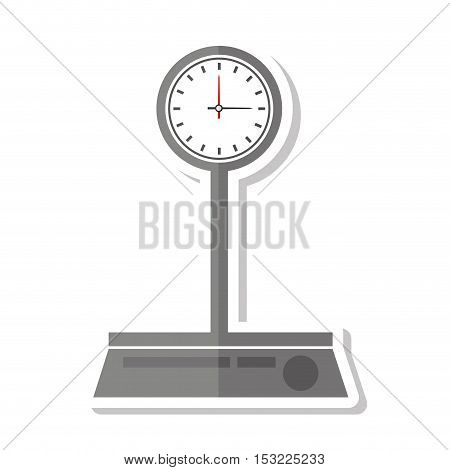 balance scale measure weight vector illustration design
