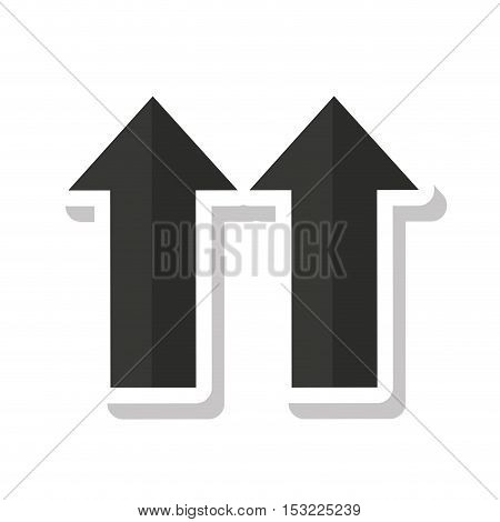 arrows side up symbol vector illustration design