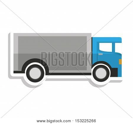 truck vehicle delivery service vector illustration design