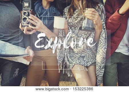 Explore Experience Travel Trip Vacation Journey Concept