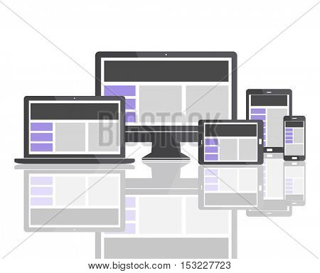 Web Design Template Copy Space Concept