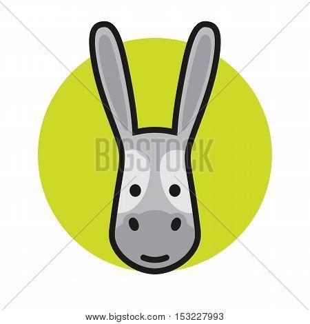 Donkey head icon, logo or sign. Vector Illustrtion