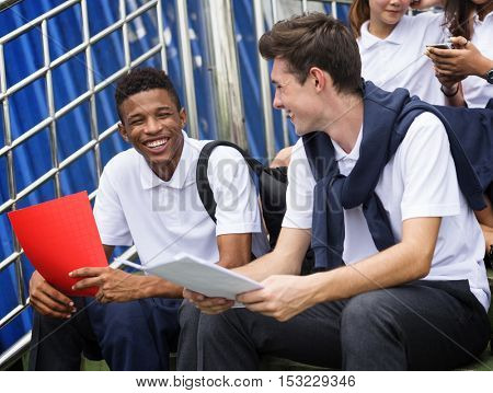 Friend Student Happiness College Diverse Concept