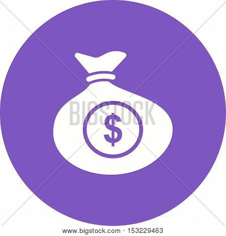 Money, bag, sack icon vector image. Can also be used for currency. Suitable for web apps, mobile apps and print media.