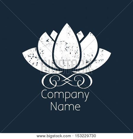 Stylized lotus flower a symbol of purity of thought emotional and mental harmony self-development and psychology.