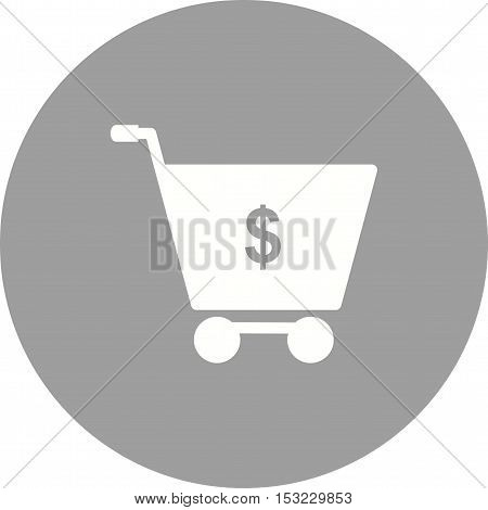 Cart, money, dollar icon vector image. Can also be used for currency. Suitable for web apps, mobile apps and print media.