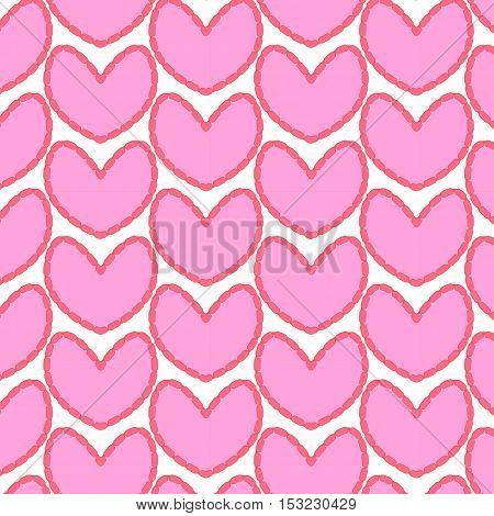 hart background  pink love vector on white background