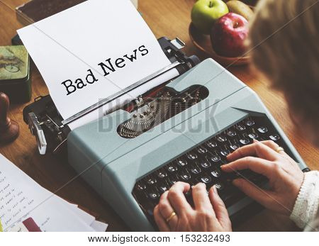 Bad News Stress Problem Concept