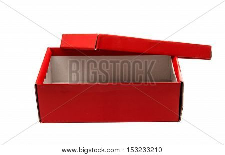 red box container isolated on white background
