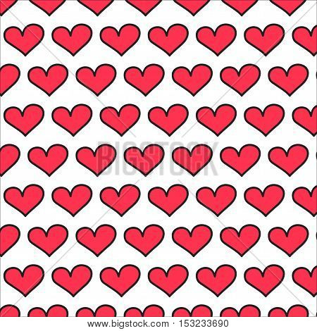 hart background love vector on white background